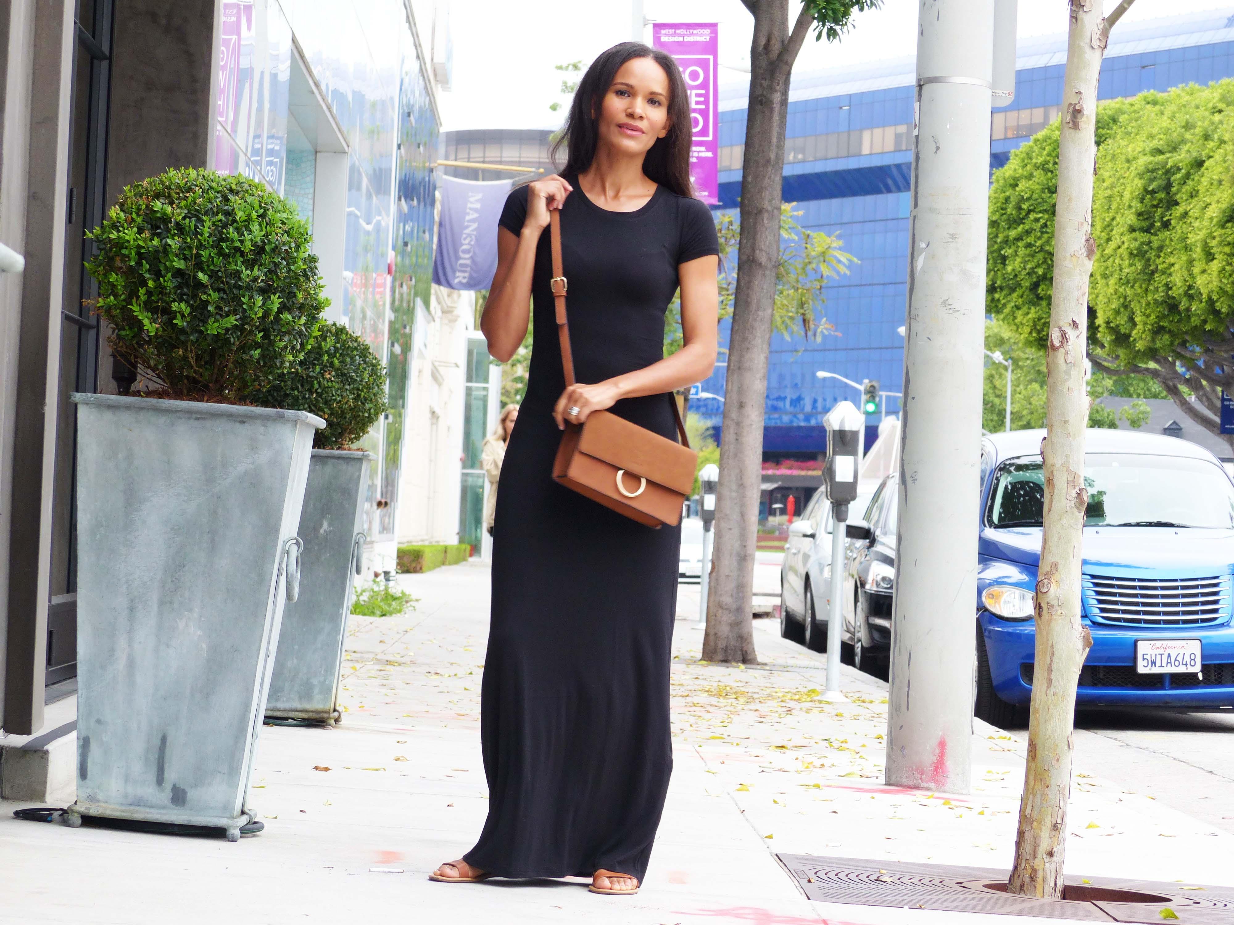 Black black t shirt maxi dress - Amanda Garrigus Forever 21 Black T Shirt Dress Dress