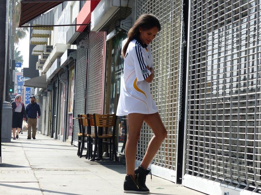 Amanda Garrigus in David Beckham jersey