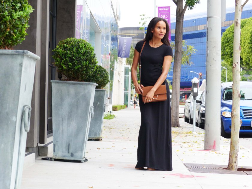 Amanda Garrigus wearing Forever 21 Black Maxi Dress