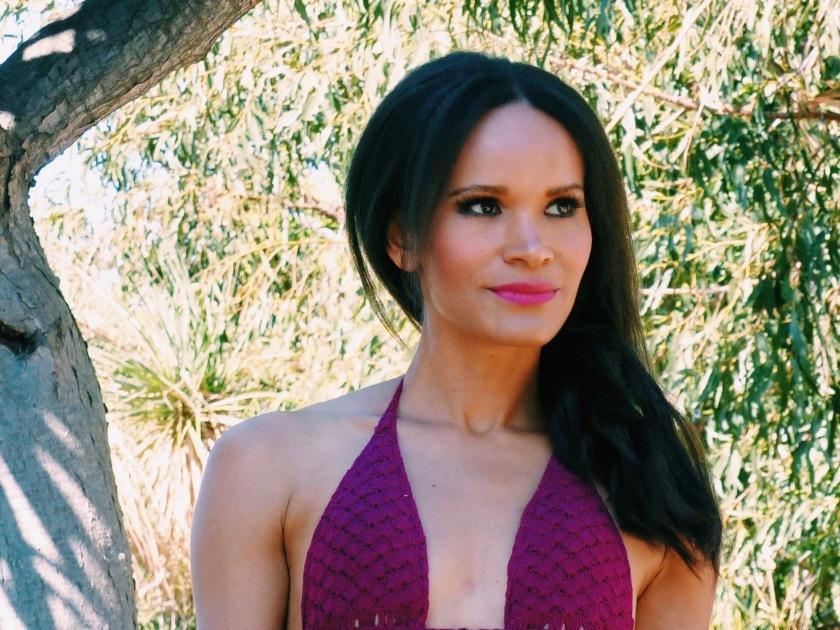 Amanda Luttrell Garrigus Coachella 2016 bold lip