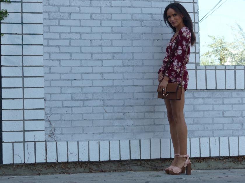 Amanda Luttrell Garrigus Forever 21 Romper and Blush wood soled Sandal