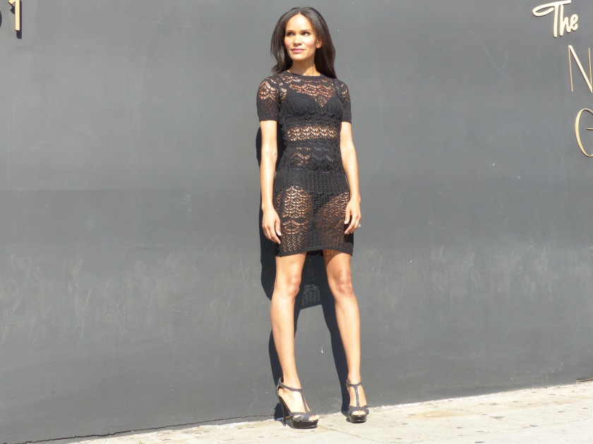 Amanda Luttrell Garrigus knit see-through dress