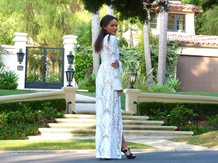 Amanda Garrigus Romantic long white dress