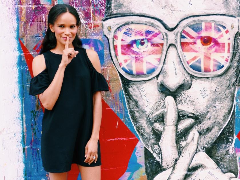 Amanda Luttrell Garrigus and a Bowie Mural