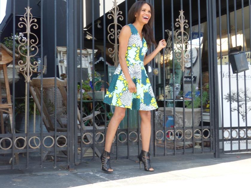 Amanda Luttrell Garrigus wearing a Draper James dress