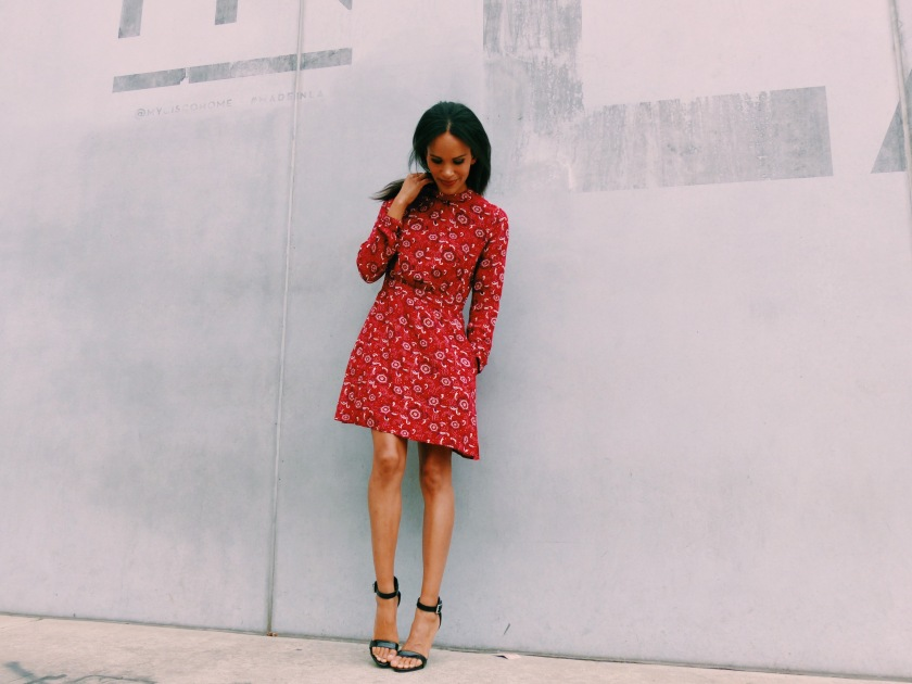 Amanda Garrigus wearing a Forever 21 Handkerchief dress