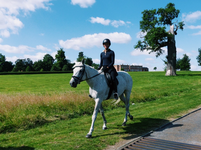 Amanda Garrigus riding at the Four Seasons Hampshire