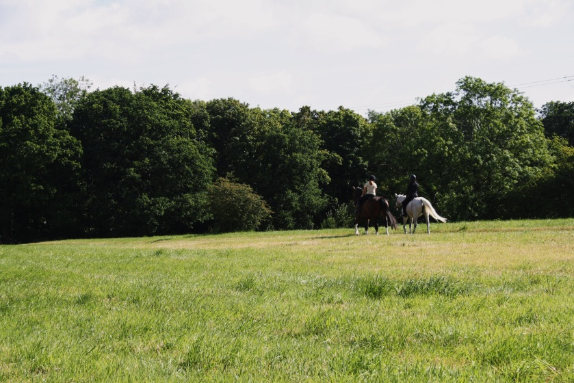 Amanda Garrigus riding in England