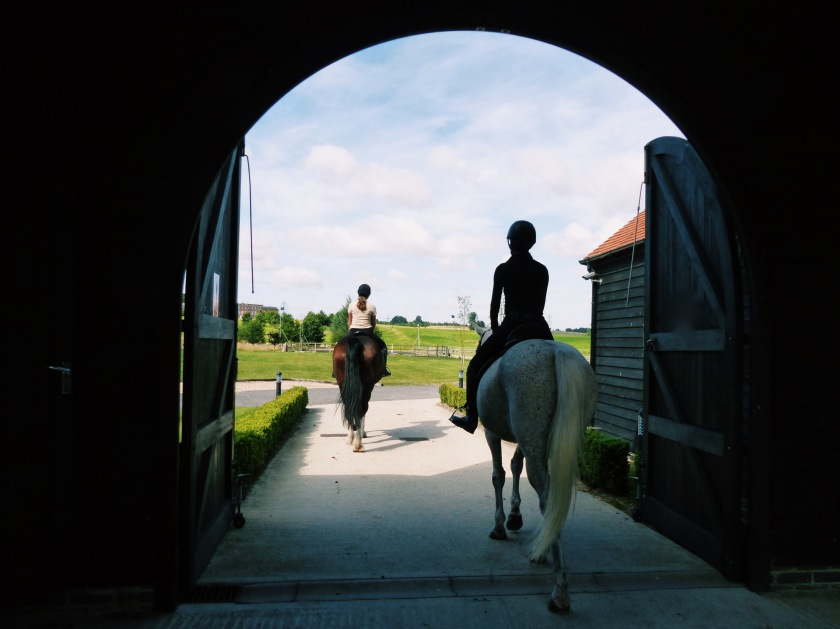 Amanda Garrigus setting out for a ride at the Four Seasons Hampshire