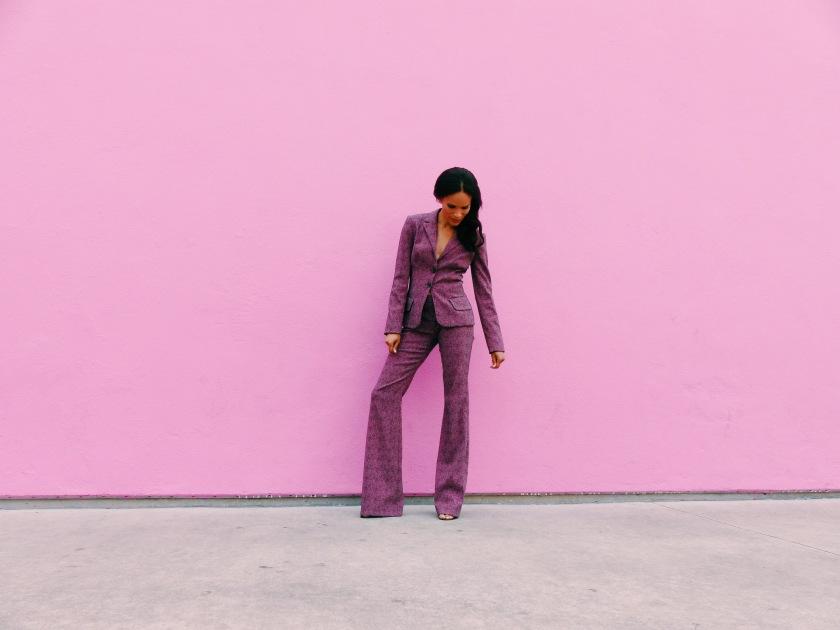 Amanda luttrell Garrigus wearing a Kevan hall suit