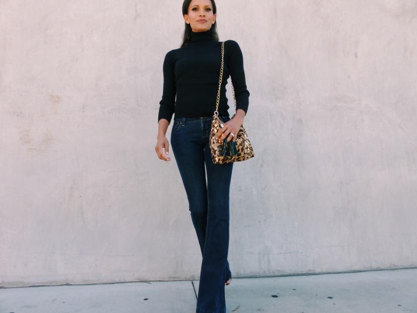 Amanda Luttrell Garrigus wearing a black turtleneck sweater